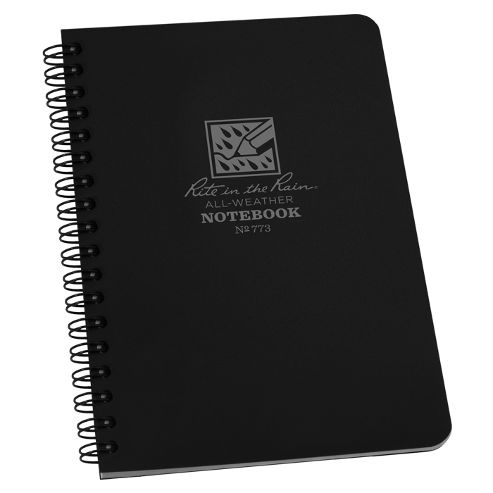 Rite in the Rain Side Spiral Notebook Black